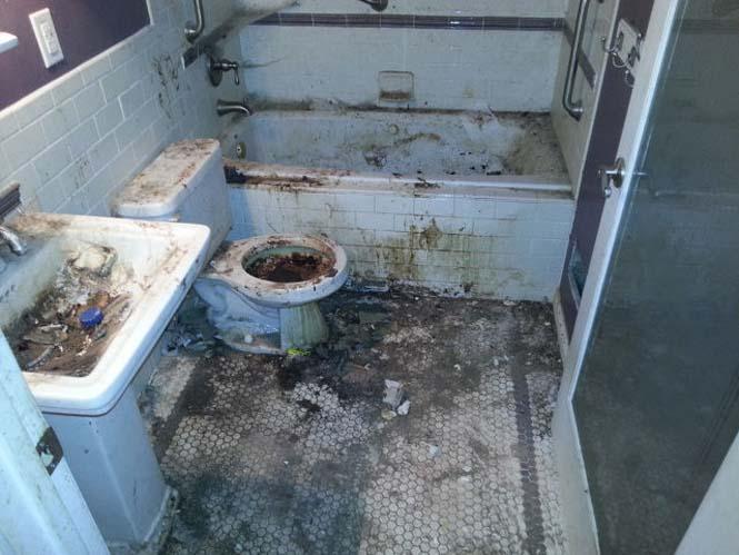 Πριν και μετά τον καθαρισμό μιας τουαλέτας (2)
